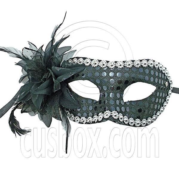 black adult floral beads mardi gras venetian masquerade face eye mask halloween - Black Eye Mask Halloween