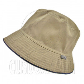 Reversible Outdoor Plain Bucket Hat (Dark Khaki / Khaki)