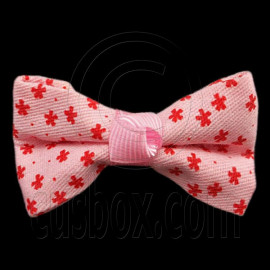 Pair Mini Size 5cm 2inch Kids' Bowknot (Star Pattern) Bow Tie Alligator Hair Clips PINK