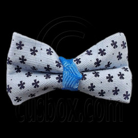 Pair Mini Size 5cm 2inch Kids' Bowknot (Star Pattern) Bow Tie Alligator Hair Clips BLUE
