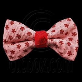 Pair Mini Size 5cm 2inch Kids' Bowknot (Star Pattern) Bow Tie Alligator Hair Clips RED