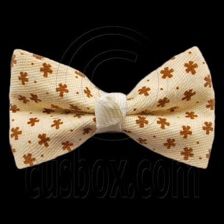 Pair Mini Size 5cm 2inch Kids' Bowknot (Star Pattern) Bow Tie Alligator Hair Clips YELLOW