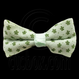Pair Mini Size 5cm 2inch Kids' Bowknot (Star Pattern) Bow Tie Alligator Hair Clips GREEN
