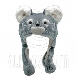 Koala Koalas Animal Funny Mascot Party Costume Adult Fur Hat Cap