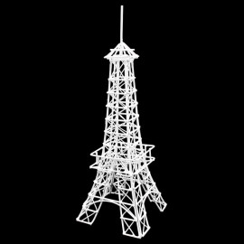 White Eiffel Tower Jewelry Display Dollhouse Miniature
