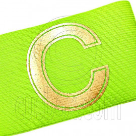Football Games Gear Adjustable Golden C Captain Armband (Fluorescent Yellow)