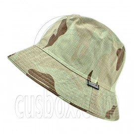 Reversible Outdoor Plain Bucket Hat (Dark Green Desert Camo / Khaki)