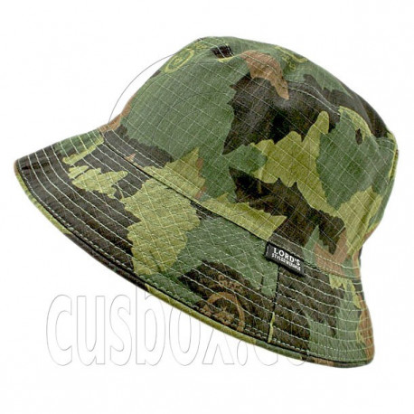Reversible Outdoor Plain Bucket Hat (Forrest Camo / Khaki)