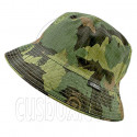 Reversible Outdoor Plain Bucket Hat (Green Forrest Pattern Camo / Khaki)