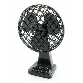 Black Wire Vintage Electric Fan New Dollhouse Miniature