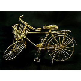 Vintage Gold Wire Bicycle Bike Rare Dollhouse Miniature