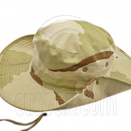 Dark Brown Desert Camo Camping Hiking Boonie Hat