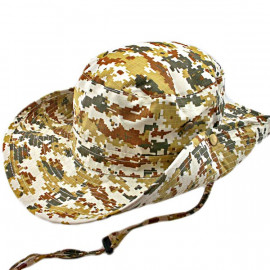 Light Brown and Green Digit Camo Camping Hiking Boonie Hat