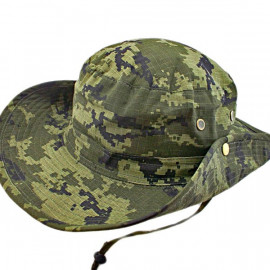 Full Green Digit Camo Camping Hiking Boonie Hat