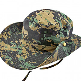 Black & Green Digit Camo Camping Hiking Boonie Hat