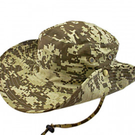 Dark Brown Digit Camo Camping Hiking Boonie Hat