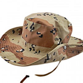 Brown Desert Camo with Dot Camping Hiking Boonie Hat