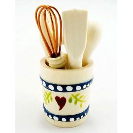 Kitchen Cooking Utencils Bucket Dollhouse Miniature Set