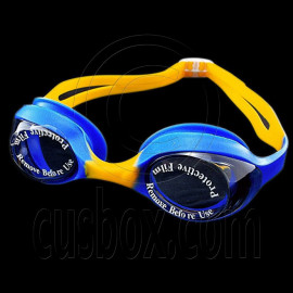 Swimming Kids Goggles with Box BLUE ORANGE