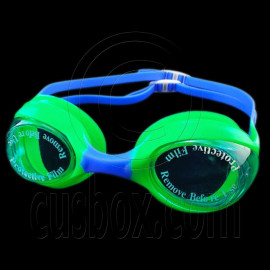 Swimming Kids Goggles with Box GREEN BLUE