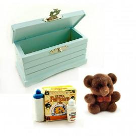 Set Baby Storage Box Bear Diaper Dollhouse Miniature