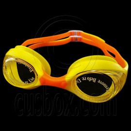 Swimming Kids Goggles with Box YELLOW ORANGE