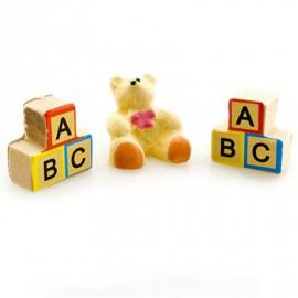 Bear ABC Baby Building Blocks Doll Dollhouse Miniature