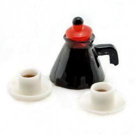 Set Coffee Cup Pot Cafe Shop Doll's Dollhouse Miniature