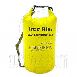 15L Free Flier Taffela Waterproof Dry Bag Size S (with 1 Eyelet & shoulder strap)