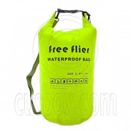 25L Free Flier Taffela Waterproof Dry Bag Size M (with 1 Eyelet & shoulder strap)