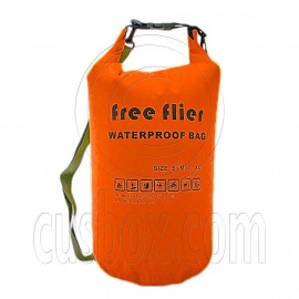 40L Free Flier Taffela Waterproof Dry Bag Size S (with 1 Eyelet & shoulder strap)