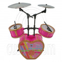 Pink Musical Room Instruments Band Set 1/6 Barbie Blythe Doll's House Furniture