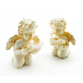 Set of 2 New Little Angel Baby Poem Dollhouse Miniature