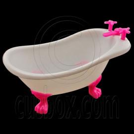 Plastic White Bathroom Bathtub 1/6 Barbie Kelly Doll's House Dollhouse Furniture