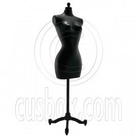 Black Dress Form Clothes Stand 1/6 Barbie Scale Doll's House Dollhouse Miniature