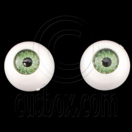 Green One Pair Doll Eyes Ball Half Round Acrylic Dolls Eye 10mm for BJD Dollfie