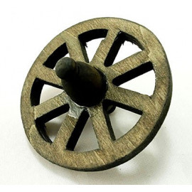 Vintage Wooden WWII Horsecar Wheel Dollhouse Miniature