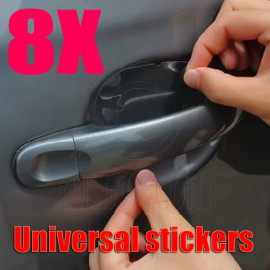 8x Car Door Wrist Handles Scratches Protective Film Vinyl Stickers Universal NEW