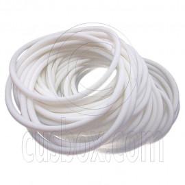 5 pcs Colorful Silicone Elastic Bracelet (White)