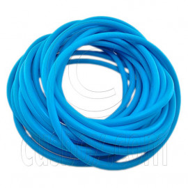 5 pcs Colorful Silicone Elastic Bracelet (Aqua Blue)
