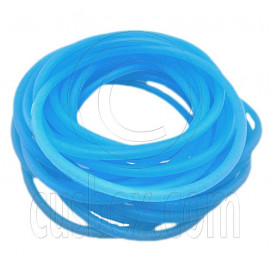 5 pcs Colorful Silicone Elastic Bracelet (Fluorescent Blue)