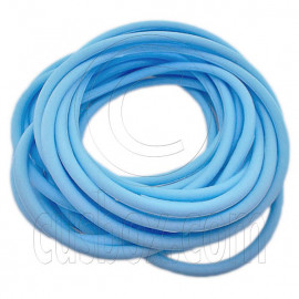 5 pcs Colorful Silicone Elastic Bracelet (Baby Blue)