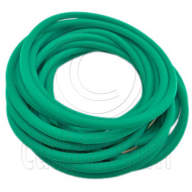 5 pcs Colorful Silicone Elastic Bracelet (Dark Green)