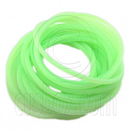 5 pcs Colorful Silicone Elastic Bracelet (Fluorescent Green)