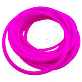 5 pcs Colorful Silicone Elastic Bracelet (Purple Pink)