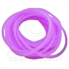 5 pcs Colorful Silicone Elastic Bracelet (Fluorescent Purple)