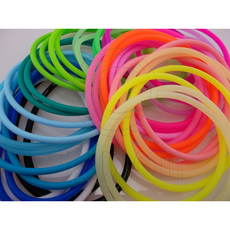 5 pcs colorful silicone elastic bracelet fluorescent purple. Black Bedroom Furniture Sets. Home Design Ideas