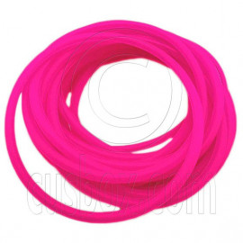 5 pcs Colorful Silicone Elastic Bracelet (Hot Pink)