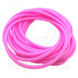 5 pcs Colorful Silicone Elastic Bracelet (Pink)