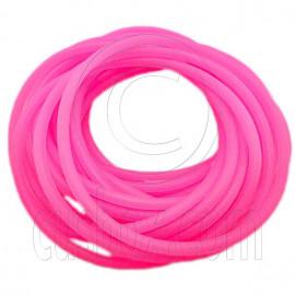 5 pcs Colorful Silicone Elastic Bracelet (Fluorescent Pink)